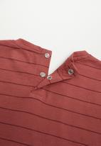 MANGO - Ibai long sleeve tee - dark red