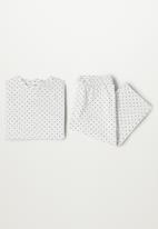 MANGO - Carlotab pyjamas - pastel grey