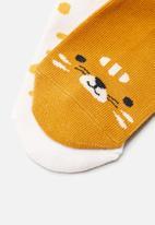 MANGO - Jungle 2 pack socks - medium yellow