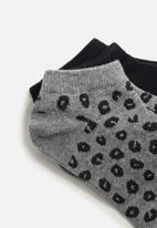 MANGO - Cora socks - black & grey