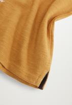 MANGO - Moto long sleeve tee - mustard