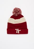 Tom Tom - Tt logo beanie - burgundy & beige