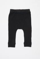 Cotton On - The waffle pant - black
