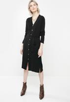 Glamorous - Knitted midi dress - black