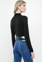 Glamorous - Highneck knit- black