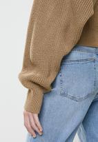 Glamorous - Cropped knit cardi - brown