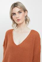Glamorous - Round neck jumper - rust