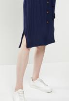 Glamorous - Knitted midi dress - navy