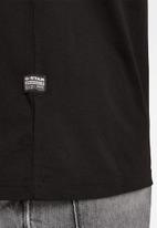 G-Star RAW - 1 reflective graphic r short sleeve tee  - dk black