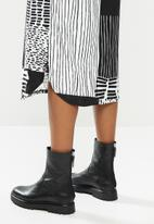 Me&B - Black and white patched dress - black & white