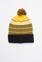 The North Face - Retro tnf pom beanie - yellow & black