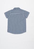 MINOTI - Boys checked shirt - blue & white