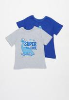 POP CANDY - 2 pack graphic tees - blue & grey