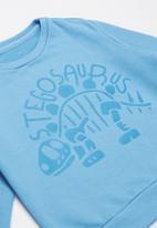 POP CANDY - 2 pack graphic sweatshirts - blue & grey