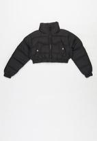 Ruby Tuesday - Crop puffer jacket - black