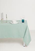 Hertex Fabrics - Enquire tablecloth - aqua