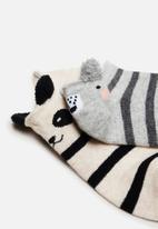 MANGO - Mouse socks - grey & neutral