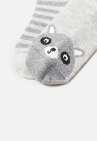 MANGO - Mapache socks - grey
