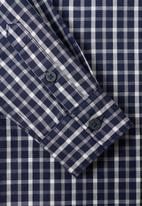 MANGO - Boys long sleeve check shirt - navy