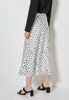 Superbalist - Long midi slip skirt - white & black