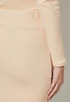 Superbalist - Rib bodycon skirt - stone