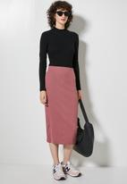 Superbalist - Rib bodycon skirt - new pink