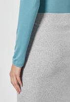 Superbalist - Rib bodycon skirt - light grey
