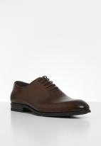POLO - Austin leather plain vamp formal lace up - brown