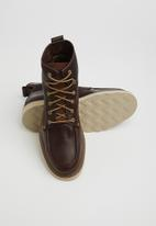 Caterpillar - Glenrock mid leather - brown