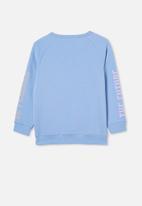 Cotton On - Mila crew - dusk blue/ future is female