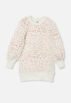 Cotton On - Molly long sleeve dress - vanilla/fawn animal
