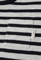MANGO - Ivang long sleeve tee - grey & black