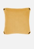 Linen House - Reagan cushion cover - dijon