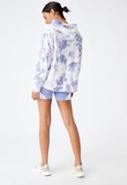 Cotton On - Lifestyle relaxed hoodie - periwinkle tie dye
