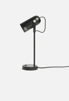 Present Time - Husk desk lamp - black