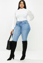 MILLA - Combo turtleneck bodysuit - ivory