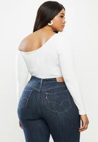 MILLA - Asymmetric one shoulder long sleeve bodysuit - ivory