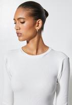Superbalist - 2-pack crew neck rib tops - grey & white