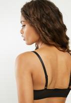 Missguided - Mesh scoop neck bralette - black