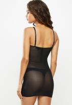 Missguided - Underwired mesh dress - black