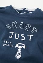 MANGO - Smart long sleeve tee - navy