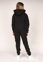 Lilylane - Melba cropped printed hoodie - black