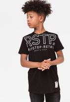 Ripstop - Nelin v-neck tee - black