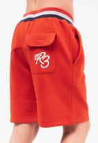 Ripstop - Showside jog shorts - red