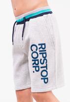 Ripstop - Showside jog shorts - grey marl