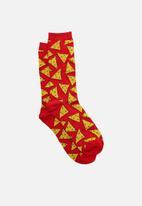 Typo - Mens novelty socks - red