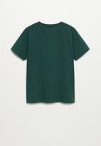 MANGO - Cross short sleeve tee - green