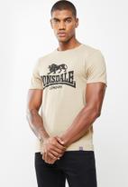 Lonsdale - Basic logo crew neck tee - beige