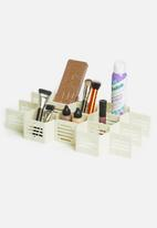 Calasca - Fine living honeycomb draw organiser set of 2 - white
