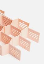 Calasca - Fine living honeycomb draw organiser - pink